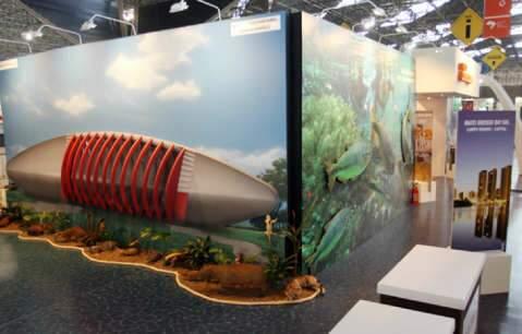 MS apresenta Aquário do Pantanal em evento de turismo em São Paulo