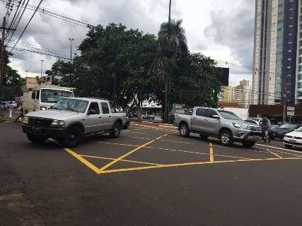 Afonso Pena tem mais um dia de caos no trânsito com semáforos desligados