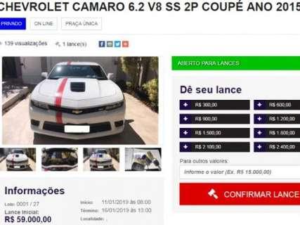 """Acusado de golpe, site tira """"br"""" e tem Camaro com lance inicial de R$ 59 mil"""