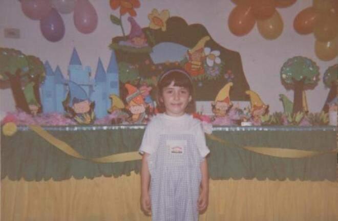 No aniversário da caçulinha Isadora, decoração era de gnomos, toda colorida.  (Foto: Arquivo Pessoal)