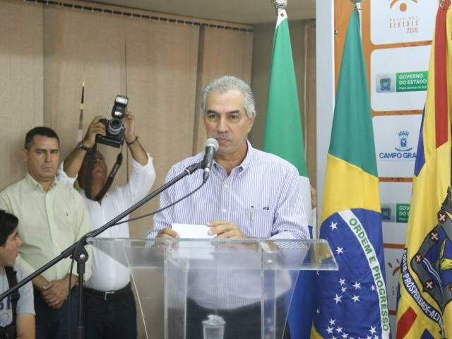 Governador Reinaldo Azambuja (PSDB) vai assinar incentivo na área de pecuária bovina (Foto: Paulo Francis)
