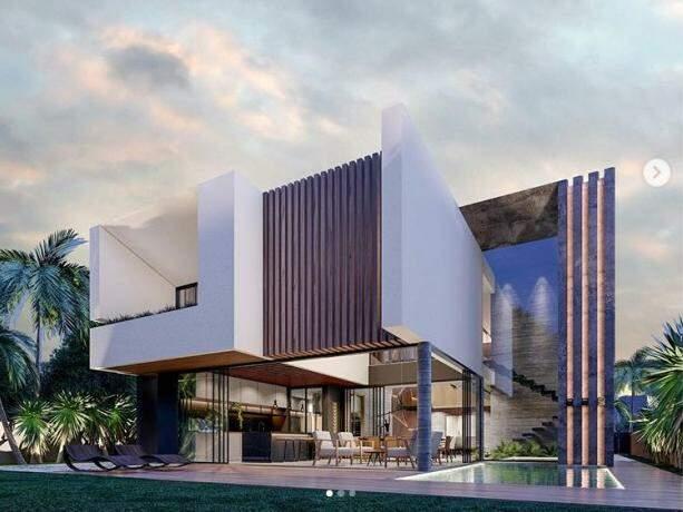 Destaque para os níveis que dão luxuosidade a obra. (Foto: Castro Arquitetos)