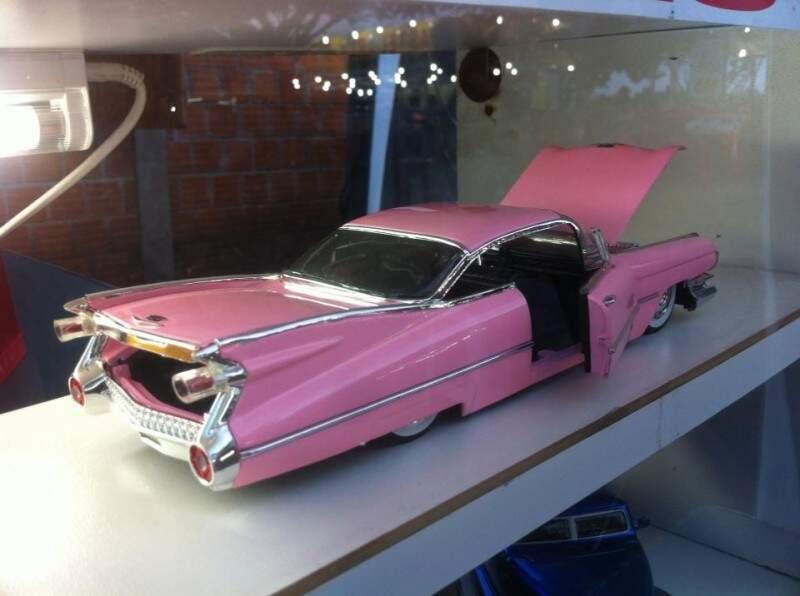 Os carros são ricos em detalhes, do banco ao volante. (Foto: Arquivo Pessoal)