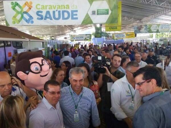 A região de Dourados foi atendida pela Caravana da Saúde no sábado (16) (Foto: Eliel Oliveira)