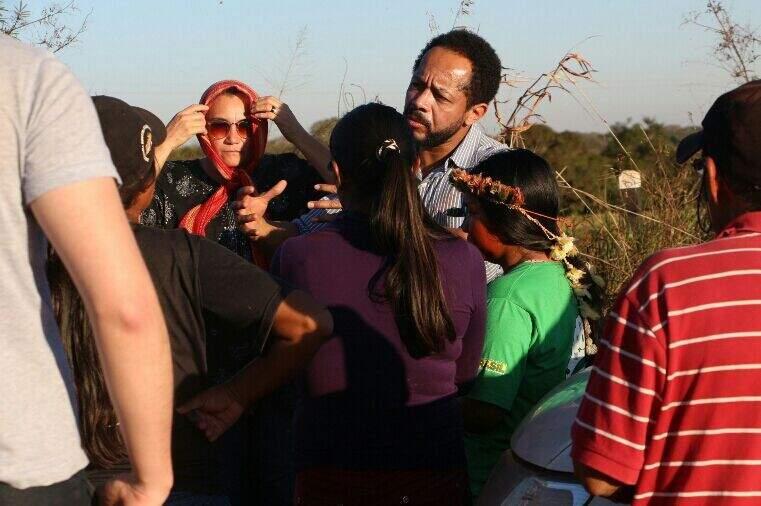 O procurador da república, Marcos Antônio Delfino de Almeida, esteve há pouco reunido com grupo de indígenas que foram alvos de ataques de fazendeiros na região da fazenda Yvu. (Foto: Hélio de Freitas)