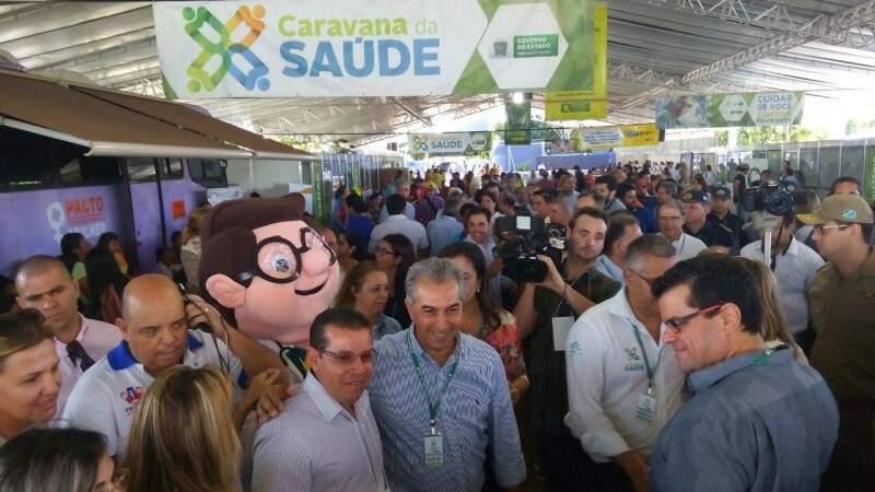 No último sábado, a Caravana da Saúde atendeu a região de Dourados (Foto: Eliel Oliveira)