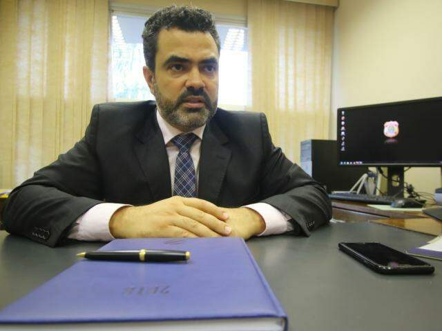Luciano Flores de Lima assumiu comando da PF de MS em fevereiro de 2018. (Foto: André Bittar/Arquivo)