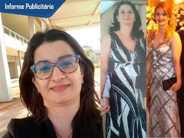 Antes e Depois de  Heliene (Foto: Divulgação)