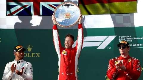 Vettel conta com ajuda do safety car para vencer no GP da Austrália