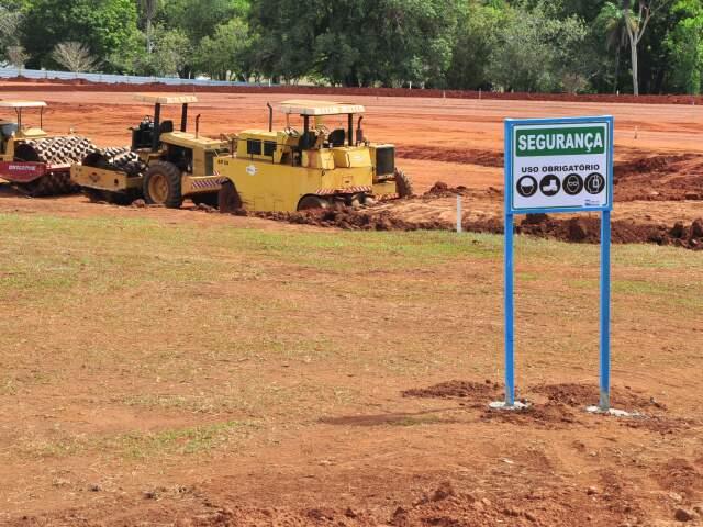 Aquário está em obras no Parque das Nações Indígenas, com previsão de inauguração em 2014. (Foto: João Garrigó)