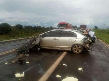 Além de matar uma pessoa, acidente na BR-267 deixou oito vítimas feridas