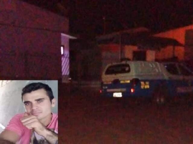Rodrigo foi morto dentro de casa com três tiros. (Foto: Itaquiraí News)