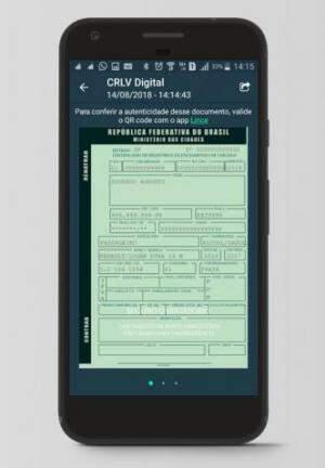 CRLV no celular substitui o documento em papel. (Foto: Serpro/Reprodução)