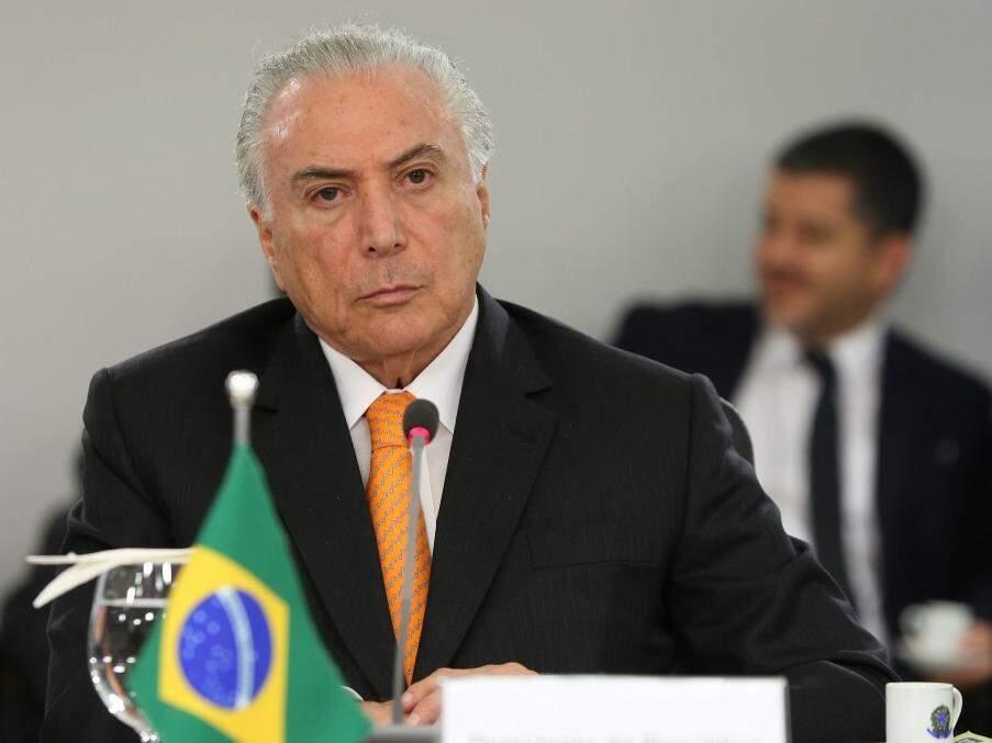Presidente Michel Temer durante reunião de acordo internacional no Palácio do Planalto (Foto: Marcos Corrêa/PR/Fotospublicas.com)