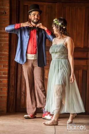 Thiago e Milka se conheceram e marcaram casamento em três meses. (Foto: Vicente Barros)
