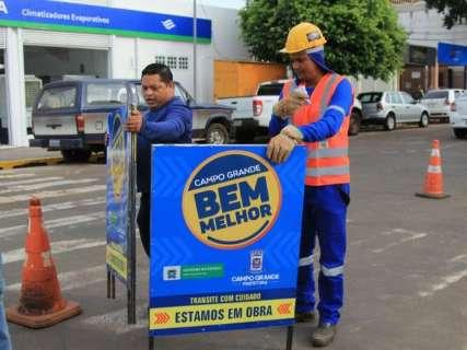 Obras do Reviva Campo Grande fecham trecho da 14 de Julho