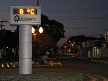 Geada foi registrada em 13 cidades do Estado no dia mais frio do ano