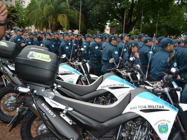 Reforço policial será na Capital e no interior (Foto: Frederico Miranda/PMMS)