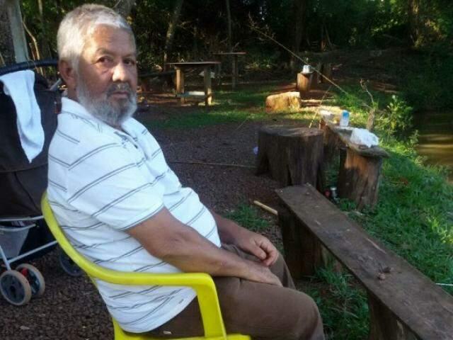 """Juraci Dias Ferreiras, o """"Lula"""" em sua última pescaria (Foto: Arquivo Pessoal)"""