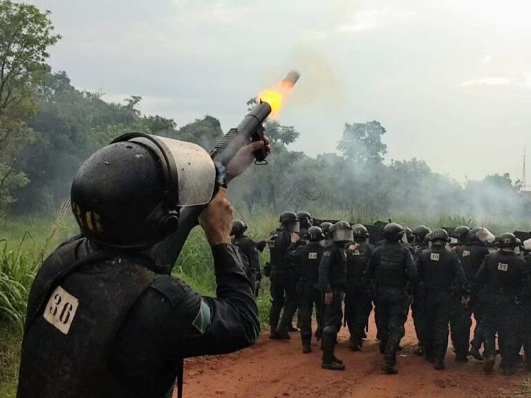 Policiais durante o curso de operações do Batalhão de Choque da Polícia Militar (Foto: Divulgação/Choque da PM)