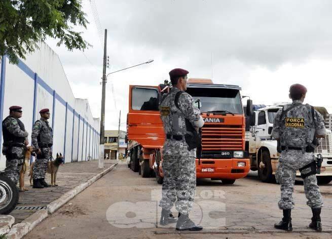 Força Nacional está intensificando policiamento nas ruas de Pedro Juan e Ponta Porã. Foto (ABC Color)
