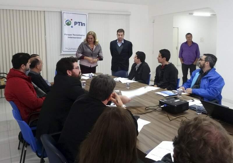 Primeira reunião da diretoria executiva do Parque Tecnológico de Ponta Porã (Foto: Divulgação)