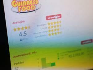 A avaliação positiva no aplicativo é motivo de orgulho.