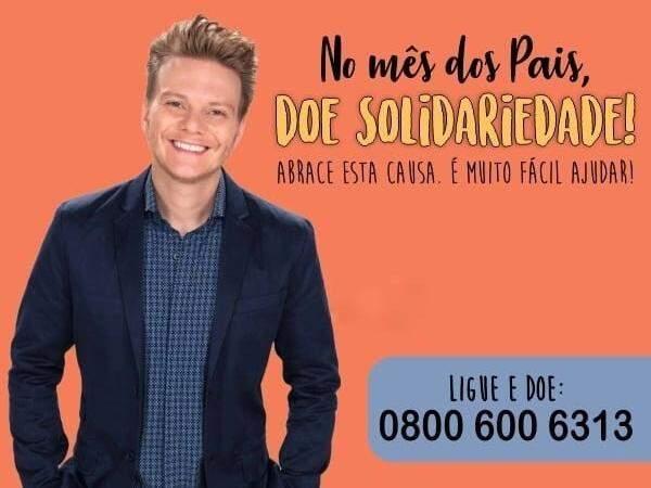 Michel Teló apadrinhou a campanha para arrecadação de donativos para pacientes neste Mês dos Pais. (Imagem: Divulgação/HCAA)