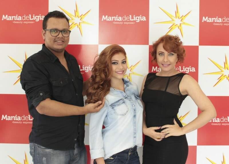 Paulo Ricardo, Kensully e Lígia Freitas (Foto: Josiane Paganini)