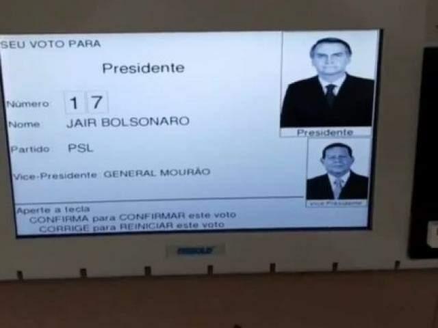Print de postagem no instagram mostra foto da escolha de presidente (Reprodução)