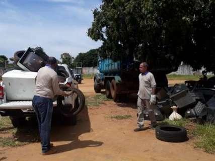 Mutirão de combate ao Aedes Aegypti recolhe 2,5 toneladas de lixo em um dia