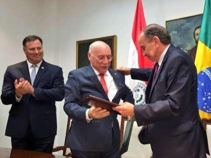 Ministros assinam acordo para construção de ponte que ligará MS ao Paraguai