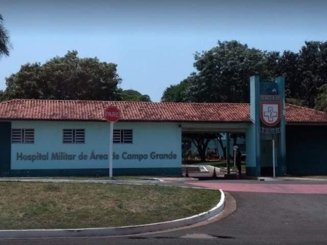 Fachada do Hospital Militar em Campo Grande.