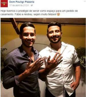 O Lado B ficou sabendo do pedido lindo de casamento do casal, via redes sociais. (Foto: Divulgação)