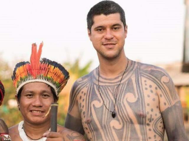 Yãkarewa Juruna e João. (Foto: Arquivo Pessoal)