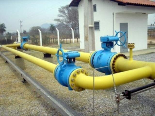 Ramal de distribuição de gás natural em Campo Grande (Foto: Divulgação/MSGás)
