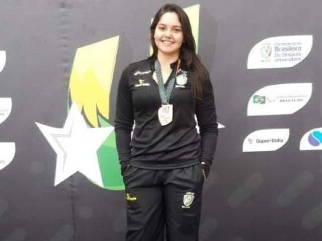 Gabriela Paliano foi ouro no Pan-Americano Universitário (Foto: Arquivo pessoal)