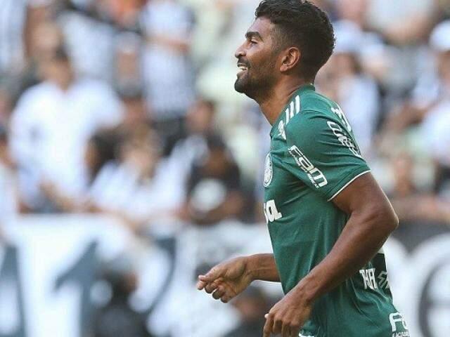 Jogador do palmeiras durante partida desta tarde (Foto: Palmeiras)