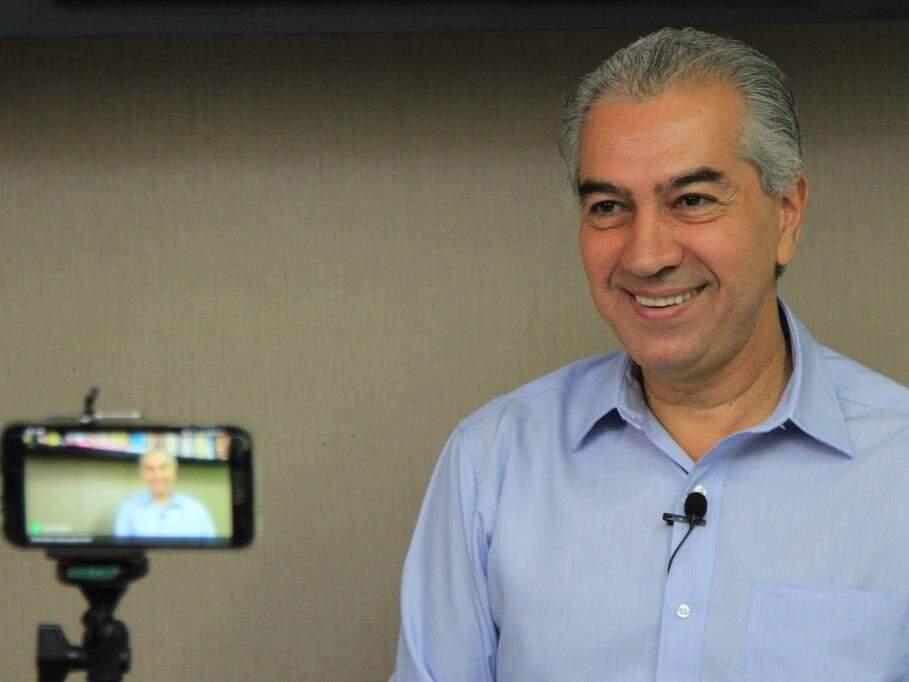 Governador Reinaldo Azambuja em entrevista ao Campo Grande News (Foto: Arquivo)