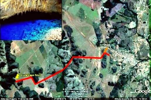 Com rodovia, distância entra cidade e gruta será reduzida em 9 quilômetros. (Foto: Divulgação)