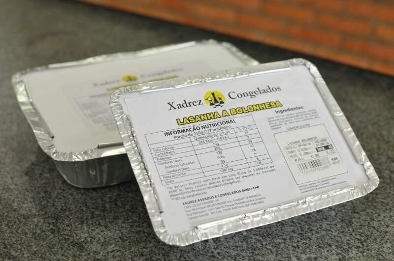 Lasanhas congeladas são vendidas no tamanho pequeno, médio e família que serve até 6 pessoas. (Foto: Alcides Neto)