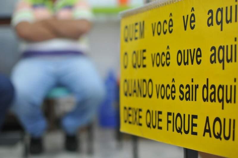 Anonimato é um dos princípios de cada reunião. (Foto: Alcides Neto)
