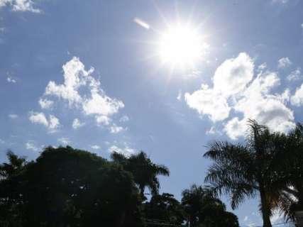 Fim de semana será de tempo seco e temperatura de até 32ºC em MS