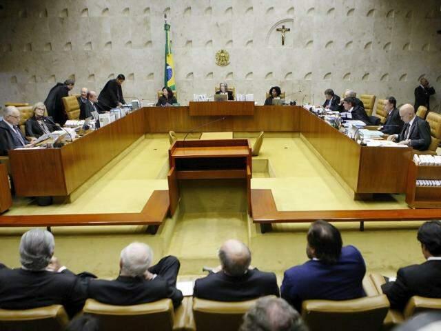 Ministros durante a votação nesta noite (04)(Foto: Felipe Sampaio)