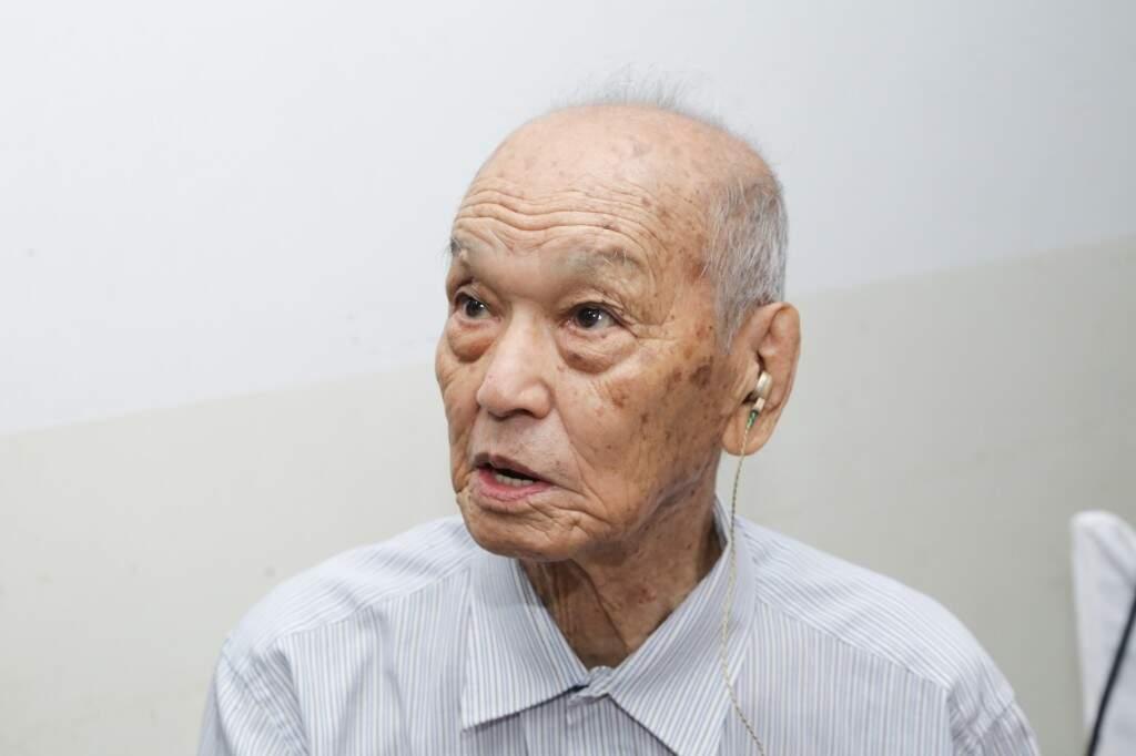 Hiroshi Yamanoto, fundador da igreja, aos 92 anos. (Foto: Kísie Ainoã)