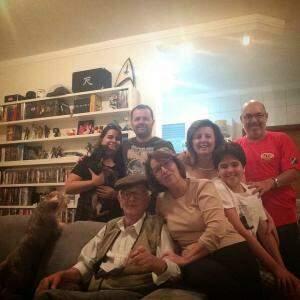 Toda família Rockenbach: filhos, netos, genro e nora.