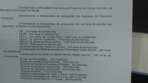 Documento ameaçando fim de plantões foi para cobrar respostas, diz prefeito
