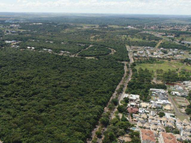 Imagem de drone mostra Parque dos Poderes à esquerda. (Foto: Gabriel Rodrigues)