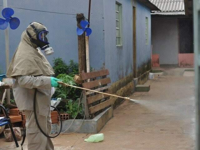 Aplicação de veneno para matar o mosquito vetor da doença é uma das formas de prevenção (Foto: Marlon Ganassin/Arquivo)
