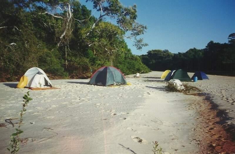 Foto do acampamento de uma das paradas do acidente fatal. (Foto: Arquivo Pessoal)